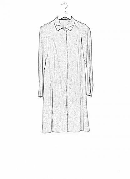 m.a maurizio amadei women raglan long shirt HW130L cotton linen ramie coal hide m 1