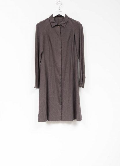 m.a maurizio amadei women raglan long shirt HW130L cotton linen ramie coal hide m 2
