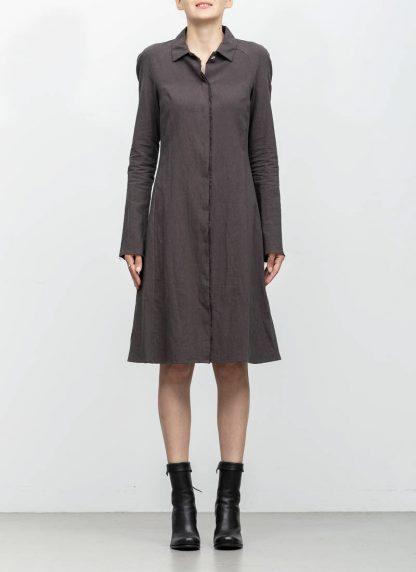 m.a maurizio amadei women raglan long shirt HW130L cotton linen ramie coal hide m 3