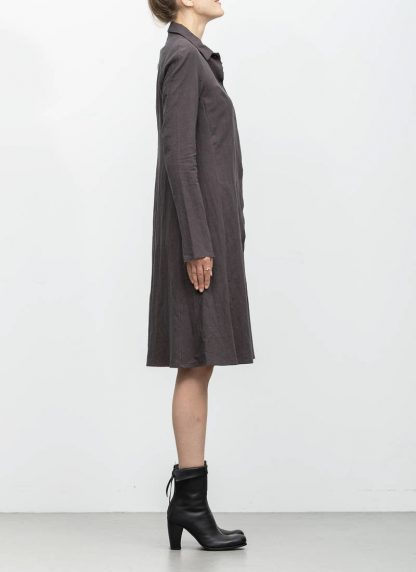 m.a maurizio amadei women raglan long shirt HW130L cotton linen ramie coal hide m 4