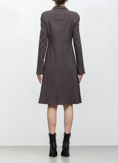 m.a maurizio amadei women raglan long shirt HW130L cotton linen ramie coal hide m 5