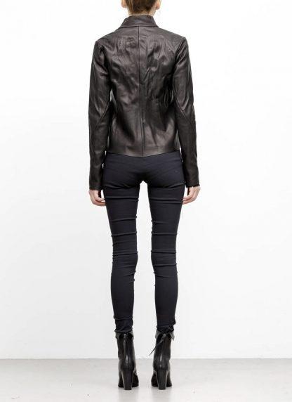 m.a maurizio amadei women relaxed biker jacket damen leder jacke JW225Z SY wasched cow leather black hide m 6