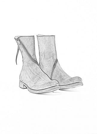m.a maurizio amadei women spiral zip boot shoe schuh stiefel SW1G3Z VAR vachetta cow leather reverse black hide m 1