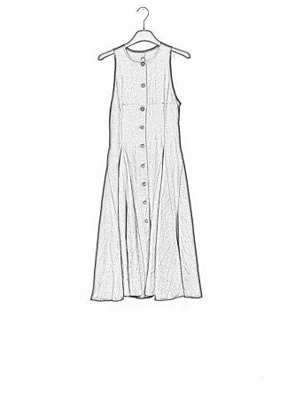 m.a maurizio amadei women star weel dress kleid D360 linen ramie black hide m 1