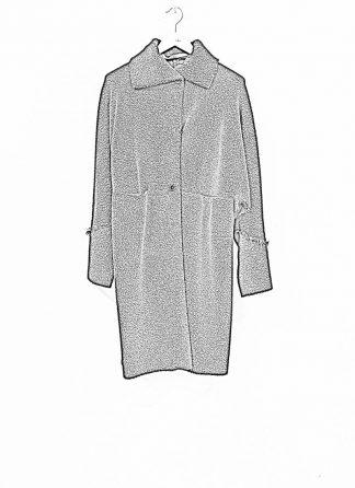 m.a maurizio amadei women wide one piece unlined coat damen mantel CW421 JWPP virgin wool polyamid polyester black hide m 1