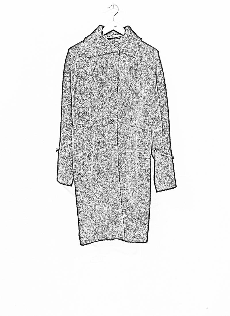 M.A+ by M. Amadei , CW421 Wide One Piece Unlined Coat, black, virgin wool polyamid polyester