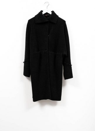 m.a maurizio amadei women wide one piece unlined coat damen mantel CW421 JWPP virgin wool polyamid polyester black hide m 2