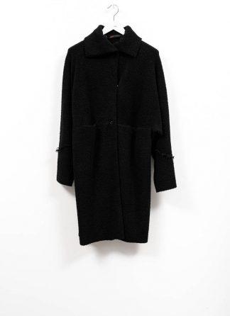 m.a maurizio amadei women wide one piece unlined coat damen mantel CW421 JWPP virgin wool polyamid polyester black hide m 2