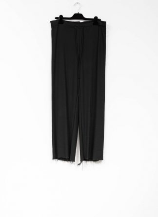 m.a maurizio amadei women wide pants with belt PW444 viscose vigin wool elastan black hide m 2