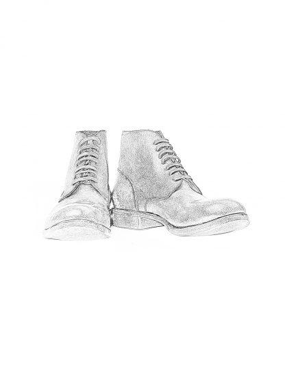 m moriabc maurizio altieri AA due goodyear handmade men shoe boot herren schuh stiefel horween destroyed horse rev black hide m 1