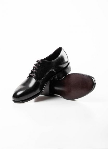 mmoriabc maurizio altieri men goodyear wood nailed derby shoe schuh BBB ZeRo genuine horween shell cordovan leather black hide m 5