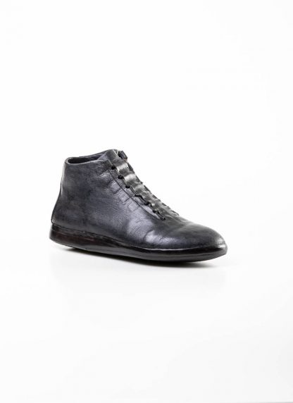 mmoriabc maurizio altieri men hand made ankle sneaker boot shoe schuh CCC V genuine waxed flesh horse leather hand painted dark grey hide m 2