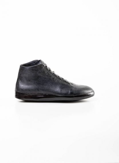 mmoriabc maurizio altieri men hand made ankle sneaker boot shoe schuh CCC V genuine waxed flesh horse leather hand painted dark grey hide m 3