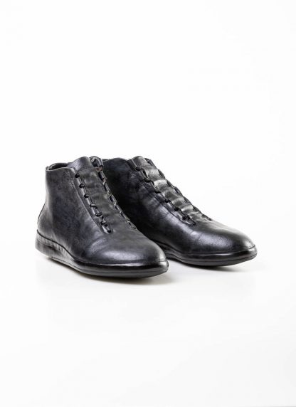 mmoriabc maurizio altieri men hand made ankle sneaker boot shoe schuh CCC V genuine waxed flesh horse leather hand painted dark grey hide m 4
