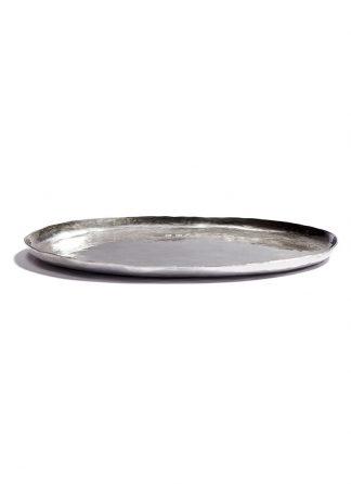 werkstatt munchen m0110 oval tray sterling silver hide m 1