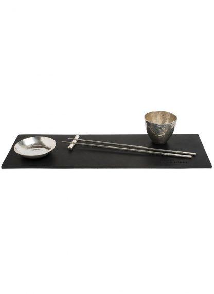 werkstatt munchen m0131 set table mat sterling silver hide m 1