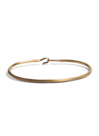 werkstatt munchen m2399 bangle hook rope gold 22k hide m 1