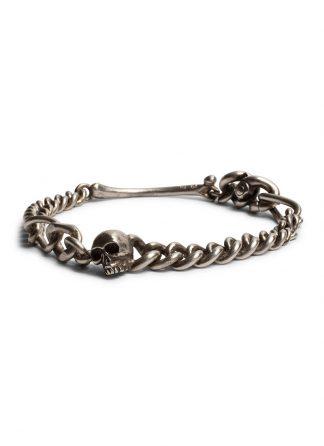 werkstatt munchen m2601 bracelet fine skull sterling silver hide m 1