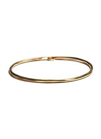 werkstatt munchen m2640 bangle hook hammered gold 22k hide m 1