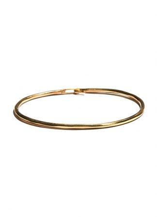 werkstatt munchen m2640 bangle hook hammered gold 22k hide m 1