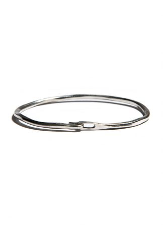 werkstatt munchen m2640 bangle hook hammered sterling silver hide m 1