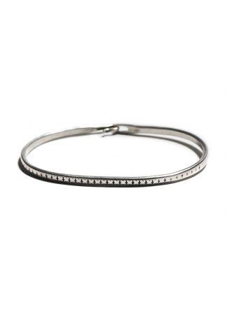 werkstatt munchen m2640 bangle hook pattern sterling silver hide m 1