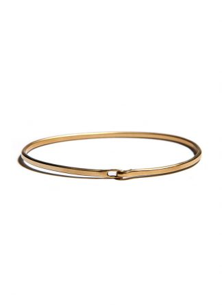 werkstatt munchen m2640 bangle hook plain gold 22k hide m 1