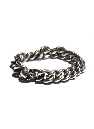 werkstatt munchen m2711 bracelet curb chain bones sterling silver hide m 1