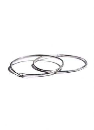 werkstatt munchen m4511 hoop earrings hammered sterling silver hide m 1