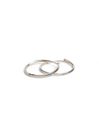 werkstatt munchen m4515 hoop earrings twisted sterling silver hide m 1