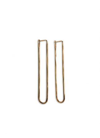 werkstatt munchen m4516 earrings loop hammered fine gold 22k hide m 1