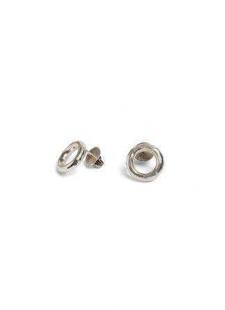 werkstatt munchen m4555 studs ring hammered sterling silver hide m 1