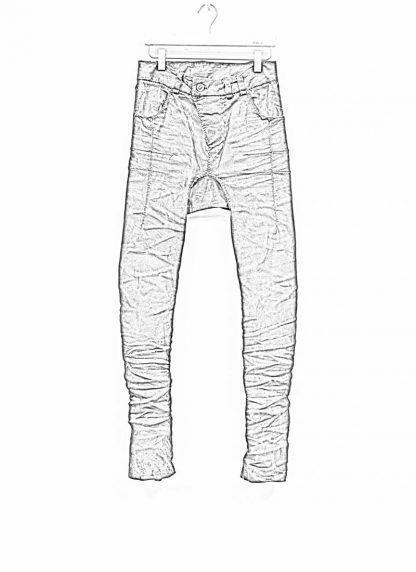 BORIS BIDJAN SABERI men pants hose fully hand stitched P13HS TF F1504K CO LY exclusively limited dark patina blue hide m 1