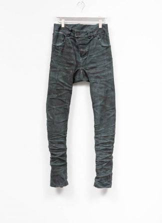 BORIS BIDJAN SABERI men pants hose fully hand stitched P13HS TF F1504K CO LY exclusively limited dark patina blue hide m 2