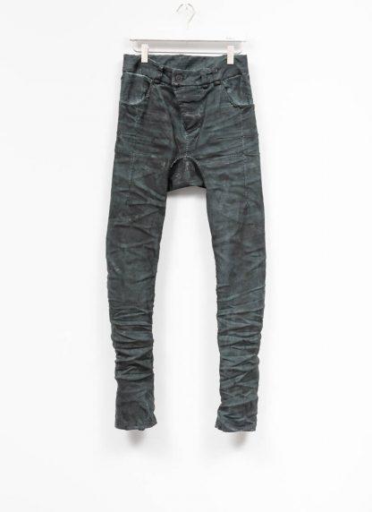 BORIS BIDJAN SABERI men pants hose fully hand stitched P13HS TF F1504K CO LY exclusively limited dark patina blue hide m 2