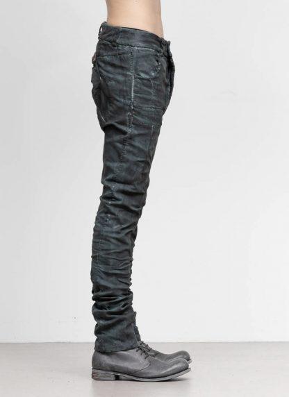 BORIS BIDJAN SABERI men pants hose fully hand stitched P13HS TF F1504K CO LY exclusively limited dark patina blue hide m 4