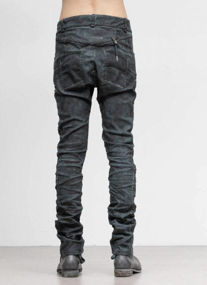 BORIS BIDJAN SABERI men pants hose fully hand stitched P13HS TF F1504K CO LY exclusively limited dark patina blue hide m 5