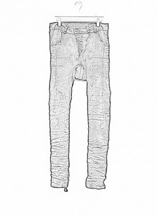 BORIS BIDJAN SABERI men pants hose fully hand stitched P13HS TF F177 CO LY used black hide m 1