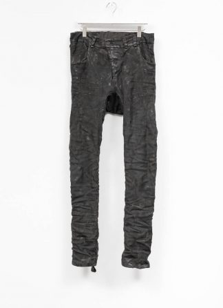 BORIS BIDJAN SABERI men pants hose fully hand stitched P13HS TF F177 CO LY used black hide m 2