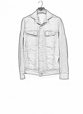BORIS BIDJAN SABERI roots TEJANA2 men jacket herren jeans jacke FKU10001 F099 cotton ea patina grey hide m 1