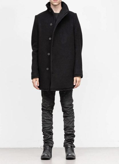 BORIS BIDJAN SABERI roots men coat jacket herren jacke mantel COAT SHORT FFB10003 pure cashmere black hide m 3