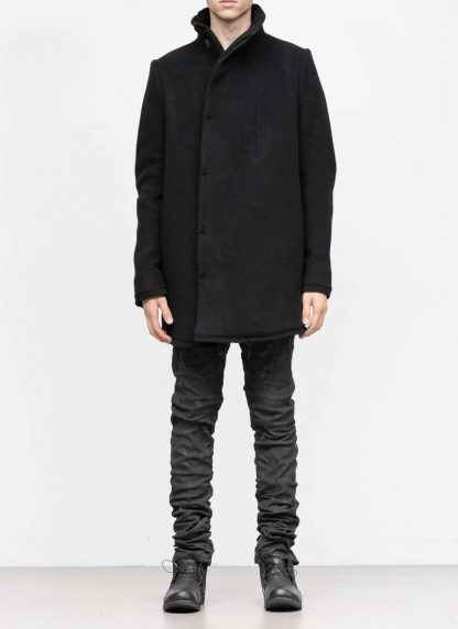 BORIS BIDJAN SABERI roots men coat jacket herren jacke mantel COAT SHORT FFB10003 pure cashmere black hide m 4