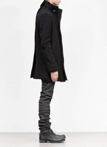 BORIS BIDJAN SABERI roots men coat jacket herren jacke mantel COAT SHORT FFB10003 pure cashmere black hide m 5