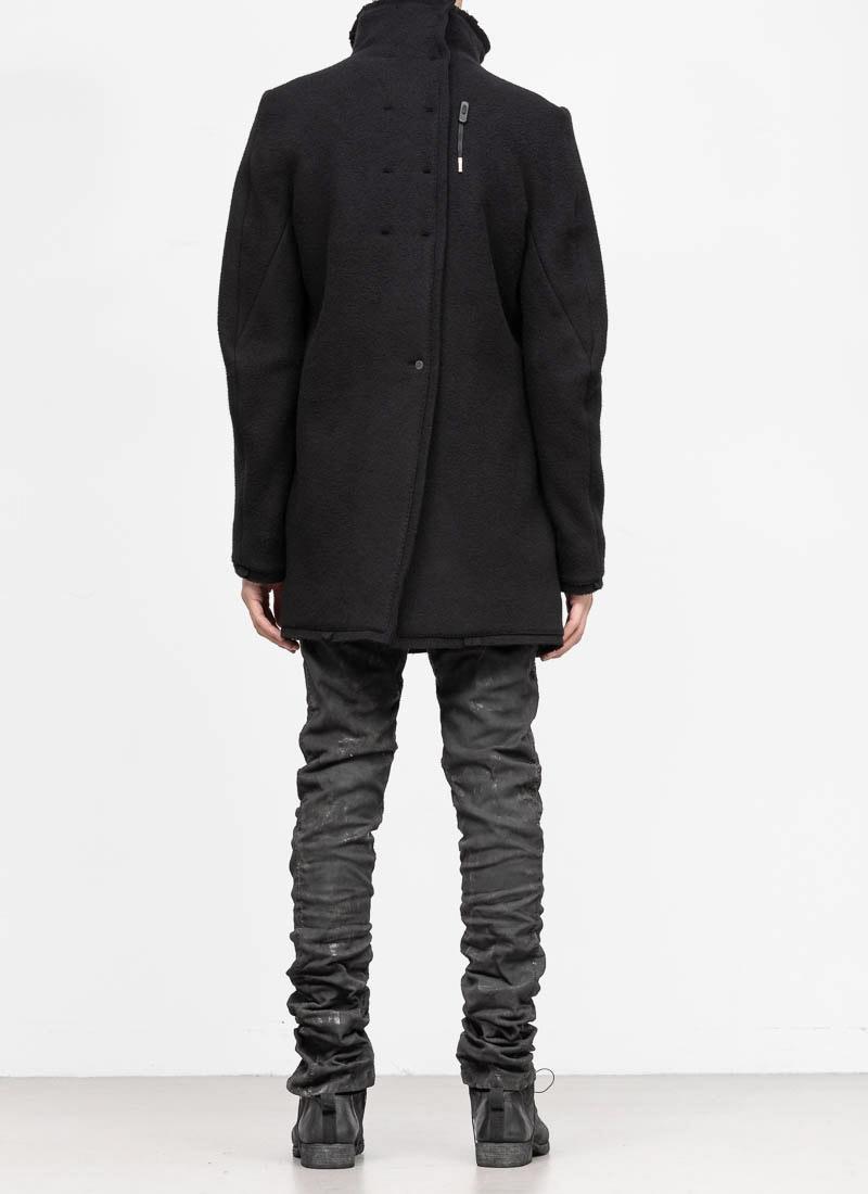 herren jacken and mantel hide m boris bidjan saberi men jacket coat short  black cashmere  boris bidjan saberi men jacket coat