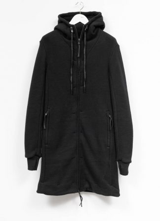 BORIS BIDJAN SABERI roots men herren long hoodie zip jacket ZIPPER3 FWT00001 CO WO PA WS black hide m 2