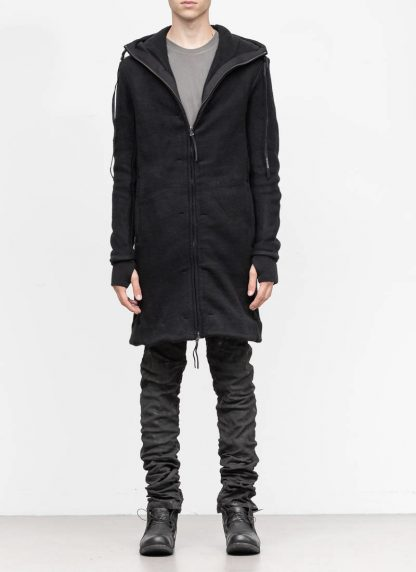 BORIS BIDJAN SABERI roots men herren long hoodie zip jacket ZIPPER3 FWT00001 CO WO PA WS black hide m 4