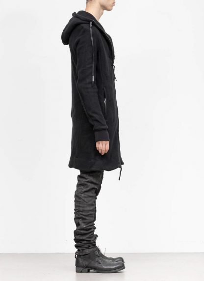 BORIS BIDJAN SABERI roots men herren long hoodie zip jacket ZIPPER3 FWT00001 CO WO PA WS black hide m 5