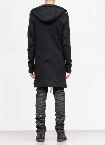 BORIS BIDJAN SABERI roots men herren long hoodie zip jacket ZIPPER3 FWT00001 CO WO PA WS black hide m 6