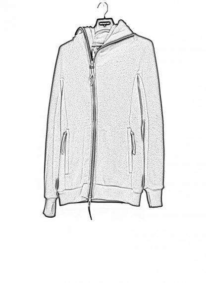 BORIS BIDJAN SABERI roots men herren ninja zip hoodie jacket ZIPPER2 FWT00001 CO WO PA WS black hide m 1