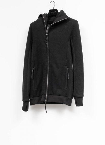 BORIS BIDJAN SABERI roots men herren ninja zip hoodie jacket ZIPPER2 FWT00001 CO WO PA WS black hide m 2